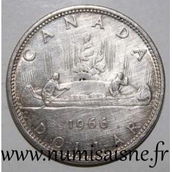 CANADA - KM 64 - 1 DOLLAR 1966 - CANOE