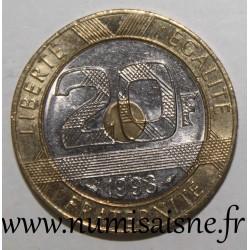 FRANCE - KM 1008 - 20 FRANCS 1993 - TYPE MONT SAINT MICHEL