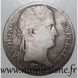 FRANCE - KM 694 - 5 FRANCS 1813 A - Paris - TYPE NAPOLEON EMPEROR