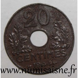 FRANCE - KM 900.2a - 20 CENTIMES 1944 - TYPE 20 Iron