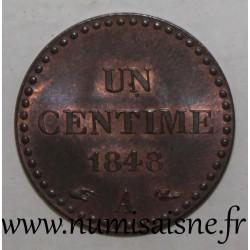 FRANCE - KM 754 - 1 CENTIME 1848 A Paris TYPE DUPRE