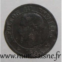 FRANCE - KM 775.1 - 1 CENTIME 1855 W - Lille - TYPE NAPOLEON III - Anchor