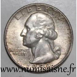 UNITED STATES - KM 164 - 1/4 DOLLAR 1956 D - Denver