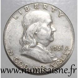 UNITED STATES - KM 199 - 1/2 DOLLAR 1961 - Benjamin Franklin