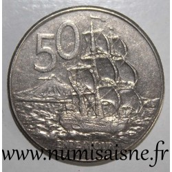 NEW ZEALAND - KM 63 - 50 CENTS 1986 - THE ENDEAVOUR BOAT - CAPTAIN COOK