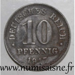 GERMANY - KM 20 - 10 PFENNIG 1917 A - Berlin