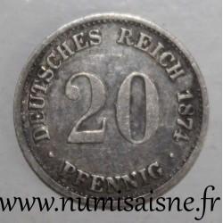 GERMANY - KM 5 - 20 PFENNIG 1874 B - Hanover