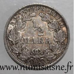 GERMANY - KM 17 - 1/2 MARK 1915 A - Berlin