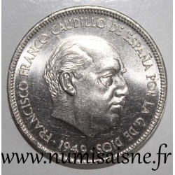 SPAIN - KM 778 - 5 PESETAS 1949/50 - FRANCO