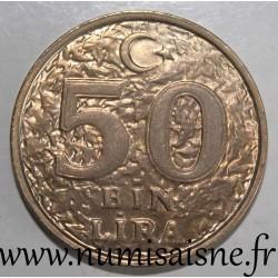 TURKEY - KM 1056 - 50.000 LIRA 1998