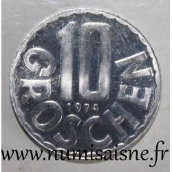 AUSTRIA - KM 2878 - 10 GROSCHEN 1974