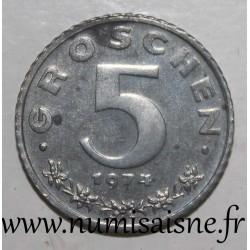 AUSTRIA - KM 2875 - 5 GROSCHEN 1974