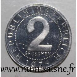 AUSTRIA - KM 2876 - 2 GROSCHEN 1974