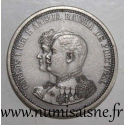 PORTUGAL - MEDAL - CARLOS I AND MARIE AMELIE D'ORLÉANS - 1889 - 1908