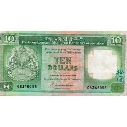 HONG KONG - PICK 191 a - 10 DOLLARS - 01/01/1986