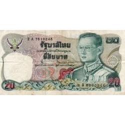 THAILAND - PICK 88 - 20 BAHT - 1981 - SIGN 55