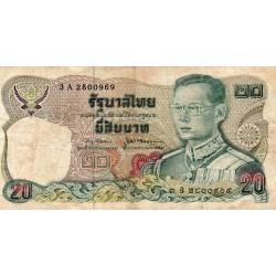 THAILAND - PICK 88 - 20 BAHT - 1981 - SIGN 66