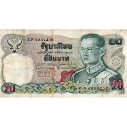 THAILAND - PICK 88 - 20 BAHT - 1981 - SIGN 64