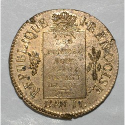 FRANCE - Gad 19 - CONVENTION - SOL WITH SCALES - 1793 AA - Metz - RESTRIKE