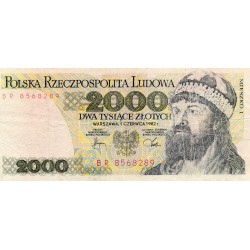 POLAND - PICK 147 c - 2 000 ZLOTYCH - 01/06/1982