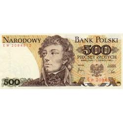 POLAND - PICK 145 d - 500 ZLOTYCH - 01.06.1982