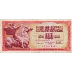 YOUGOSLAVIE - PICK 90 a - 100 DINARA - 12/08/1978