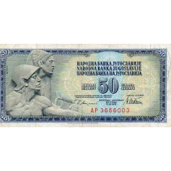 Jugoslawien - PICK 89 a - 50 DINARA - 12/08/1978