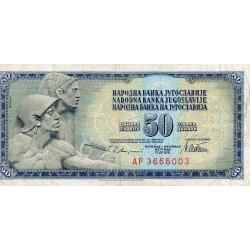 YOUGOSLAVIE - PICK 89 a - 50 DINARA - 12/08/1978