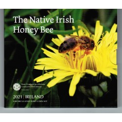 IRLAND - MINTSET 2021 - BLISTERCARD - HONEY BEE - 8 COINS (3.88 euros)