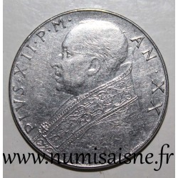 VATICAN - KM 55 - 100 LIRE 1958 - POPE - PIUS XII