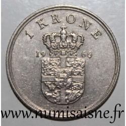 DENMARK - KM 851 - 1 KRONE 1966