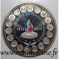 FRANCE - MEDAL - 100 YEARS OF 1st WORLD WAR 1914 - 2014 - TRIAL / PATTERN