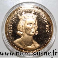 FRANCE - MEDAL - KING - LOUIS III - 879 - 882