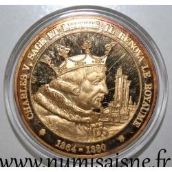 FRANCE - MEDAL - KING - CHARLES V - 1364 - 1380