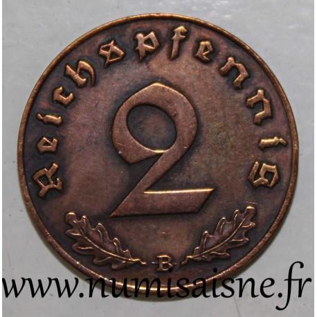 GERMANY - KM 90 - 2 REICHSPFENNIG 1939 B - Wien
