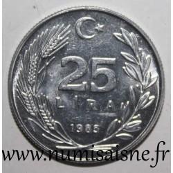 TURKEY - KM 975 - 25 LIRA 1985