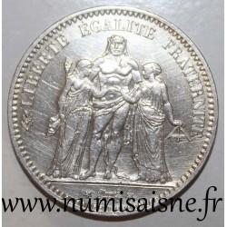 FRANCE - KM 820 - 5 FRANCS 1877 A - Paris - TYPE HERCULE