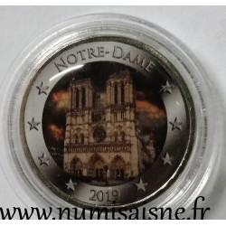 FRANCE - 2 EURO 2019 - COLOR - NOTRE DAME OF PARIS