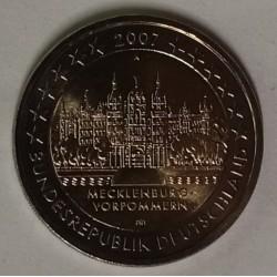 GERMANY - KM 260 - 2 EURO 2007 - A - Berlin - CASTLE OF SCHWERIN - Mecklenburg-Western Pomerania