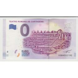 SPAIN - TOURISTIC 0 EURO SOUVENIR NOTE - TEATRO ROMANO DE CARTAGENA - 2019