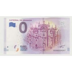 SPAIN - TOURISTIC 0 EURO SOUVENIR NOTE - CATHEDRAL OF GRANADA - 2019
