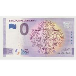 SPAIN - TOURISTIC 0 EURO SOUVENIR NOTE - IN THE PORTAL OF BELÉN - 2020