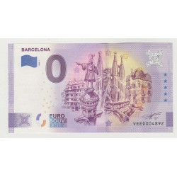 SPAIN - TOURISTIC 0 EURO SOUVENIR NOTE - BARCELONA - 2020