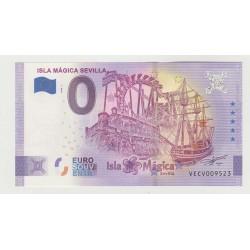 SPAIN - TOURISTIC 0 EURO SOUVENIR NOTE - ISLA MÁGICA SEVILLA - 2020 - ANNIVERSARY