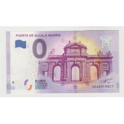 SPAIN - TOURISTIC 0 EURO SOUVENIR NOTE - PUERTA DE ALCALA MADRID - 2020