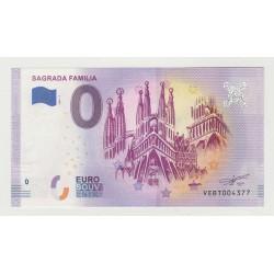 SPAIN - TOURISTIC 0 EURO SOUVENIR NOTE - SAGRADA FAMILIA - 2020