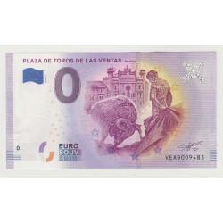 SPAIN - TOURISTIC 0 EURO SOUVENIR NOTE - ARENA - PLAZA DE TOROS DE LAS VENTAS - 2019