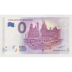 SPAIN - TOURISTIC 0 EURO SOUVENIR NOTE - CATALUNYA EN MINIATURA - 2019