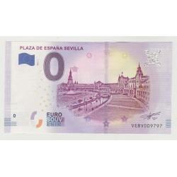 SPAIN - TOURISTIC 0 EURO SOUVENIR NOTE - PLAZA DE ESPAÑA SEVILLA - 2020