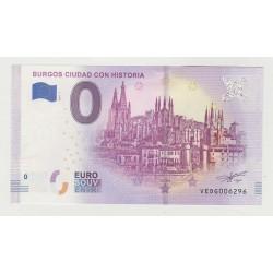 SPAIN - TOURISTIC 0 EURO SOUVENIR NOTE - BURGOS CIUDAD CON HISTORIA - 2019